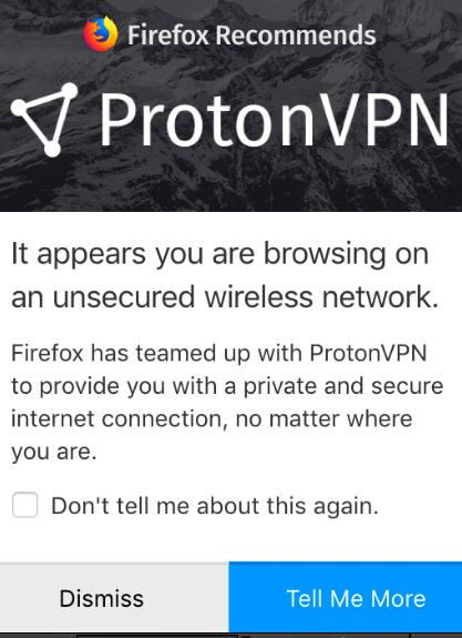 ProtonVPN advertisement
