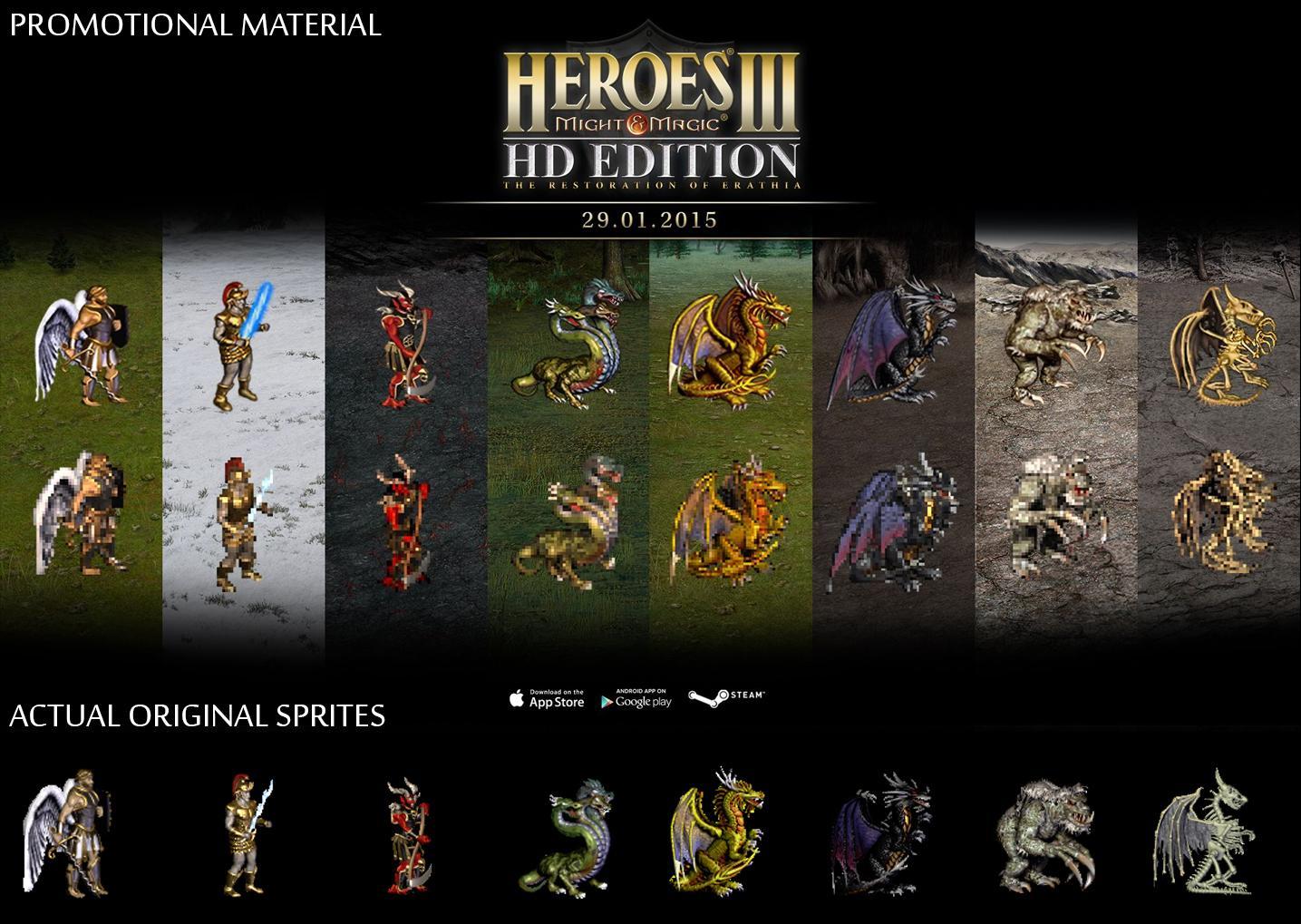HoM&M III HD lying about original HoM&M III sprites